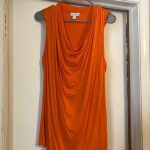 BISOU BISOU orange top size large